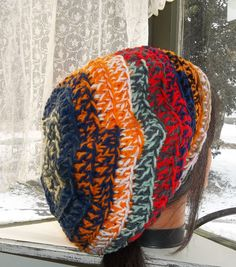 Extra thick & slouchy bohemian hat by Treasures Twisted