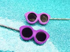SALE - - Sunglasses Bobby Pins - My Future is So Bright I Gotta Wear Shades Bobby Pins - 1980s 80s Eighities Retro Style - Hair Accessories