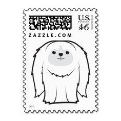 Pekingese Dog Cartoon Postage Stamps