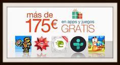 #Amazon quiere celebrar la Navidad con todos nosotros regalándonos, hasta el día 26 de Diciembre, 50 aplicaciones valoradas en más de 175 euros.