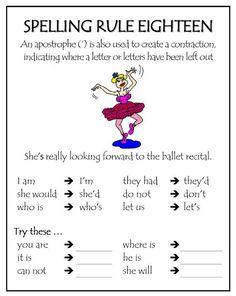 Spelling Rule 18 More