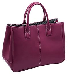 Generic Women's Tote Big Purple Leather Handbag Large *** Learn more by visiting the image link.