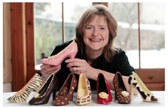 Frances Cooley a chocolatier and owner of Choc Chic creates fabulous stiletto shoes and handbags out of Belgian chocolate.