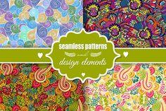 Romantic seamless patterns by Sofimix on @creativemarket