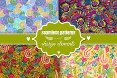 Romantic seamless patterns by Sofimix on @creativemarket