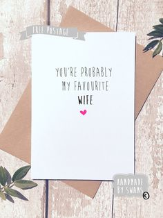 A personal favourite from my Etsy shop https://www.etsy.com/uk/listing/508785641/valentines-day-card-funny-card-humorous