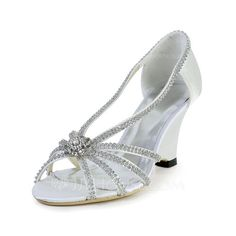 Wedding Shoes - $72.92 - Women's Silk Like Satin Wedge Heel Peep Toe Sandals With Rhinestone (047030270) http://jjshouse.com/Women-S-Silk-Like-Satin-Wedge-Heel-Peep-Toe-Sandals-With-Rhinestone-047030270-g30270?ver=1