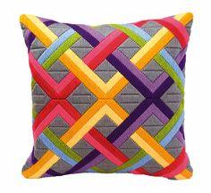 Bargello Long Stitch Cushion Kit By Vervaco I