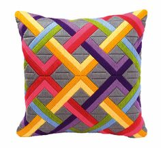 Bargello Long Stitch Cushion Kit By Vervaco I
