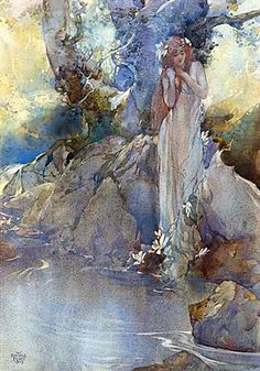 """Sir William Russell Flint, """"A Water Nymph"""""""