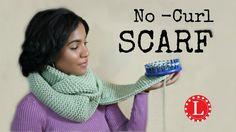 LOOM KNIT Scarf on Round Loom -  No Curl Garter Stitch Scarves - Beginne...