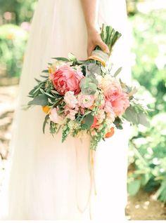 Hochzeitsinspirationen in Pfirsich- und Rosetönen von Belle and Beau Photography