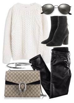 """""""Untitled #20232"""" by florencia95 ❤ liked on Polyvore featuring MANGO, H&M, Gucci, Étoile Isabel Marant and Ray-Ban"""