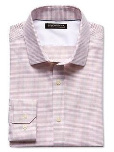 b5390503408b3f Tailored Slim-Fit Non-Iron Dobby Check Shirt Work Suits, Latest Shoes,