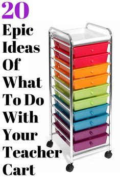 Spoiler alert it's a teacher cart. I will show you epic ideas for your teacher rolling cart and where to get it. Idea #10 may change your life!