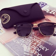 Street Styles | Ray Ban Sunglasses $13.99! 2015 Women Fashion Style From USA Glasses Online. #RayBanSunglasses