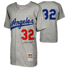 Sandy Koufax Brooklyn Dodgers Fanatics Authentic Autographed Mitchell and  Ness 1963 Gray Authentic Jersey 3bff8a213