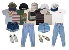 """choose ur look !!!!!!!!!!"" by kampow ❤ liked on Polyvore featuring Brixton, Levi's, Boohoo, Bensimon, Vans, tumblr, pale, indie, grunge and aesthetic"