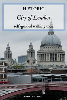 London self-guided tour in the west part of the City of London, visiting less known places and the iconic St Paul's Cathedral, as well as a coffee break.  #citytour #walkingtours #London #thingtodo