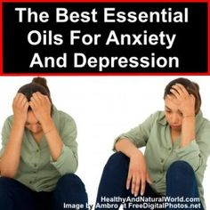 The Best Essential Oils For Anxiety And Depression. Bergamot - has a refreshing scent that uplifts the spirit & helps w feelings of pain, anxiety, depression, & sadness. Clary Sage - can help w insomnia, anxiety, & depression. Frankincense – is one of the best EO's to slow down your breathing reducing feelings of fear, nervous tension, stress, & anxiety. Geranium - works as a natural sedative to lift the spirit & release negative emotions.  It works to ease symptoms of depression & stress.