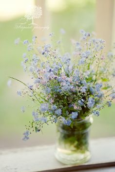 """Forget-Me-Not"" is my all time favorite flower. Most certainly will take a place of honour in any wedding bouquet I have. :)"