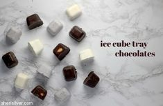 Ice Cube Tray Chocolates l sherisilver.com Wheat Free Baking, Recipe Of The Day, Ice Cube Trays, Chocolates, Valentines Day, Favorite Recipes, Age, Candy, Snacks