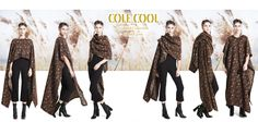 Retro Brown floral long cape, Retro Jacquard and Leather long cape, Cool Many-way long cape, FUNCTIONAL CLOTH, COLE COOL, LaCoHK