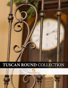 The Tuscan Round Hammered balusters are hand hammered into a round shape and no two balusters will look alike. No other supplier has a round hammered product. Hammered products provide a very Old World look and go great in Traditional style homes. Iron Staircase, Stair Railing, Rustic Charm, Rustic Style, Iron Balusters, Traditional Style Homes, Tuscan House, Mediterranean Home Decor, Tuscan Decorating