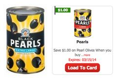 Pearls Pitted Olives Only $0.32 at ShopRite! - http://www.livingrichwithcoupons.com/2014/01/pearls-olives-32-shoprite.html