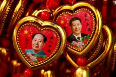 File photo of souvenirs featuring portraits of China's late Chairman Mao Zedong and China's President Xi Jinping are seen at a shop near the Forbidden City in Beijing, China September 9, 2016. Credit: REUTERS/Thomas Peter