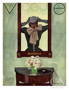 Vogue Cover - September 1931 Poster Print by Pierre Mourgue at the Condé Nast Collection