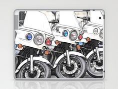 Chips Fractalius Motorbikes Laptop & iPad Skin by F Photography and Digital Art - $25.00