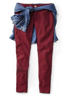 Junior's Chambray shirt Ross Store, Maroon Skinny Jeans, Chambray, Harem Pants, Summer Outfits, Stylists, Outfit Ideas, Shirts, Cook