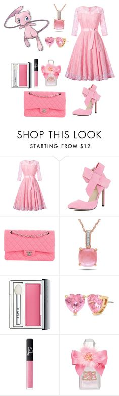 """""""Pokemon-Mew"""" by otakugurl77 ❤ liked on Polyvore featuring Mew., Chanel, Miadora, Clinique, Betsey Johnson, NARS Cosmetics, Juicy Couture, InspiredOutfit, Pokemon and Mew"""