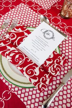 Napkin as Menu Holder | Hen House Linens