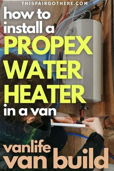 A water heater is often considered a luxury when converting a van. However, we consider a water heater an essential bit of kit if you plan on living in your van full time! This electric heater is a fraction of the price of the more well-known competitors such as Truma, and is just as good! This step-by-step guide walks you through the process of installing it, including helpful diagrams and cost analysis. | Van life | Van life conversion ideas | Van interior | Van plumbing | Rv Mods, Diy Projects Cans, Diy Rv, Cool Campers, Van Interior, Tiny House On Wheels, Rv Life, Rv Living, Conversation