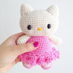 Kitty Crochet Plushie 15 € via ETSY