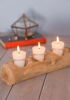 Driftwood You Join Me Candle Holder, #ModCloth