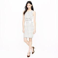 dotted cummerbund dress