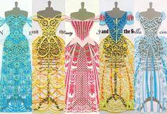 緻密で驚くほど繊細!切り絵で制作したディズニープリンセスのドレスが素敵すぎる!