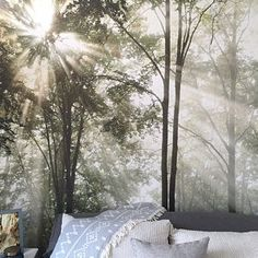 Sunrise Sea Ocean Wave Sunset Beach - Large Wall Mural, Self-adhesive Vinyl Wallpaper, Peel & Stick fabric wall decal Sunset Beach, Palm Beach, Forest Mural, Tree Forest, Magical Forest, Las Vegas Strip, Vinyl Wallpaper, Sea And Ocean, Fish Ocean