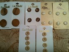 Vintage La Mode Buttons Brown Seven Sets on Original Cards From Sixties via Etsy