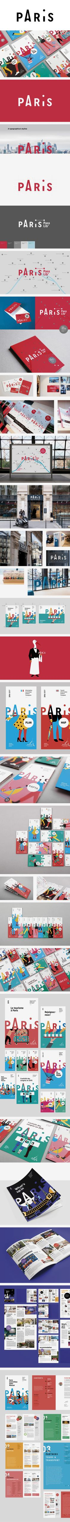 More corporate-designs are collected on: https://pinterest.com/rothenhaeusler/best-of-corporate-design/ · Agency: Grapheine (Paris) · Client: L'Office du Tourisme et des Congrès de Paris · Source: htt