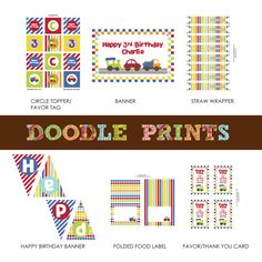 Printable Transportation Birthday Party Invitation by doodleprints, $8.00