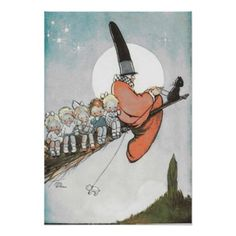 Off With Mother Goose Poster - Halloween happyhalloween festival party holiday