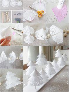 Sehe dir das Foto von GrossstadtKind mit dem Titel Weihnachtsbaum zum Hinstellen selbermachen für die Tischdeko zu Weihnachten. Tolle Idee und ganz einfach! und andere inspirierende Bilder auf Spaaz.de an.