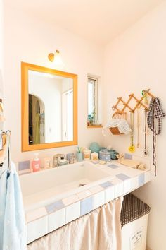 【アイジースタイルハウス】タイル。大きな洗面ボウルで使いやすい 家族用の洗面台