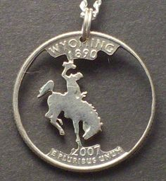 Wyoming Cut Coin Jewelry by bongobeads on Etsy, $19.95