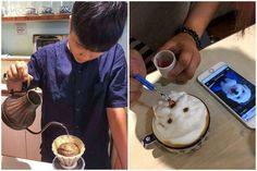 La barista che ritrae gli animali dei clienti negli incredibili cappuccini 3-D