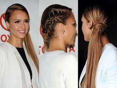 Acconciatura laterale con capelli lunghi per Capodanno - Lei